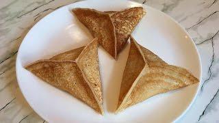 Треугольные Блинчики с Грибами и Сыром (Очень Вкусно) / Triangular Pancakes / Простой Рецепт