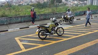 Percurso novo de moto
