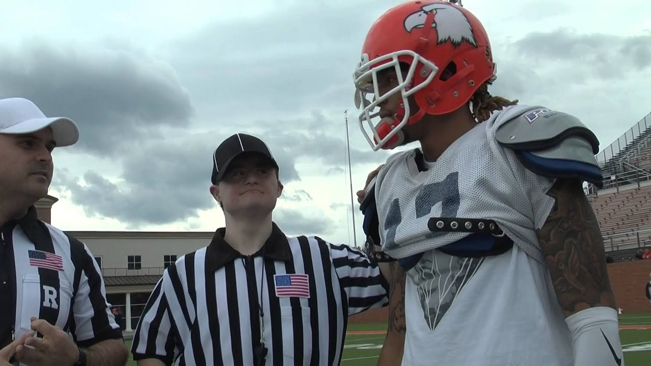 Carson Newman Football Will Lindsey Conducts The Spring Game Coin