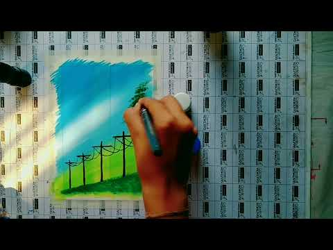 How to make a beautiful painting || painting for beginners || easy painting ideas #art #painting