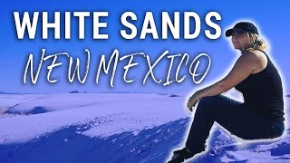 WORLD'S LARGEST WHITE GYPSUM SAND DUNEFIELD!! | Travel Snacks