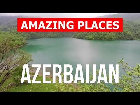 Azerbaijan country tour   Baku city, Caspian Sea, nature, tourism   Drone video 4k   Azerbaijan vlog