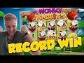 RECORD WIN!!! Wonky wabbits 15€ bet Big win - Casino - Huge Win (WILDLINE)