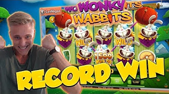 RECORD WIN!!! Wonky wabbits 15€ bet Big win - Casino - Huge Win (WILDLINE)