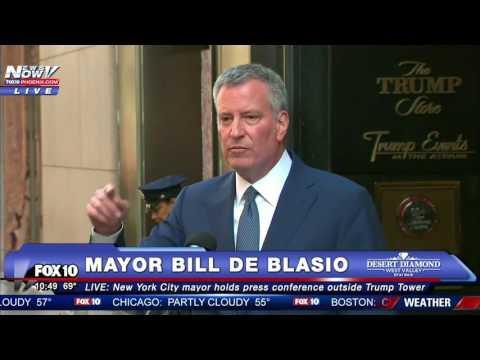 MUST WATCH: New York Mayor Bill De Blasio Meets With Trump, Speaks Outside Trump Tower - FNN