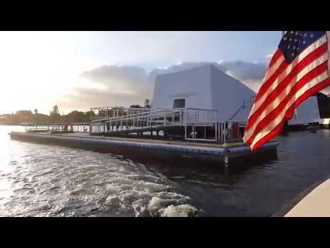 Arizona Basketball visits the U.S.S. Arizona Memorial at Pearl Harbor