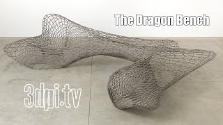 3d Printed Metal Furniture - The Dragon Bench
