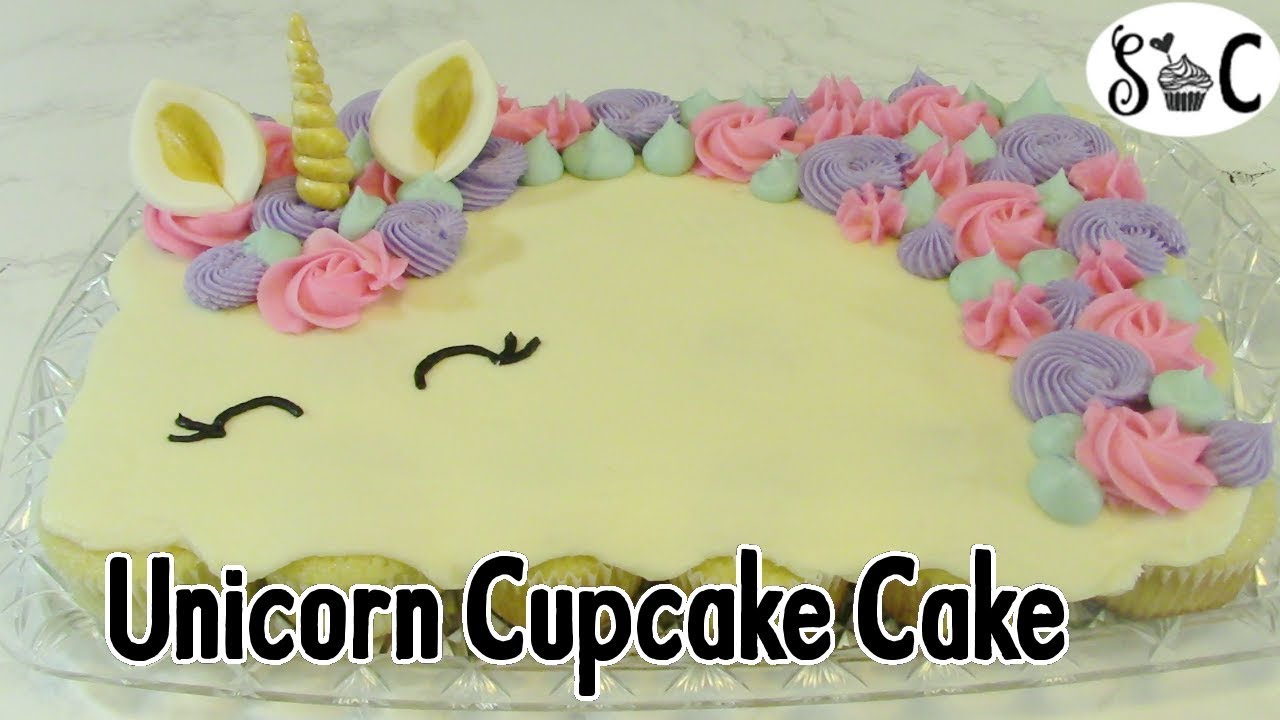 How To Make A Unicorn Cupcake Cake Sweetwater Cakes Youtube