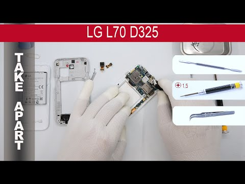 How to disassemble 📱 LG L70 D325, Take Apart, Tutorial