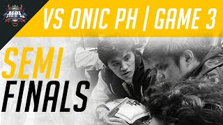 MPL PH S6: Semifinals | Bren Esports vs Onic PH [Game 3]