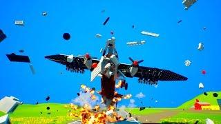 Lego Airplane Falls Crashes #10   Brick Rigs