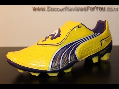 61b1b102c27a Puma v1.11 Synthetic Vibrant Yellow Parachute Purple White - UNBOXING