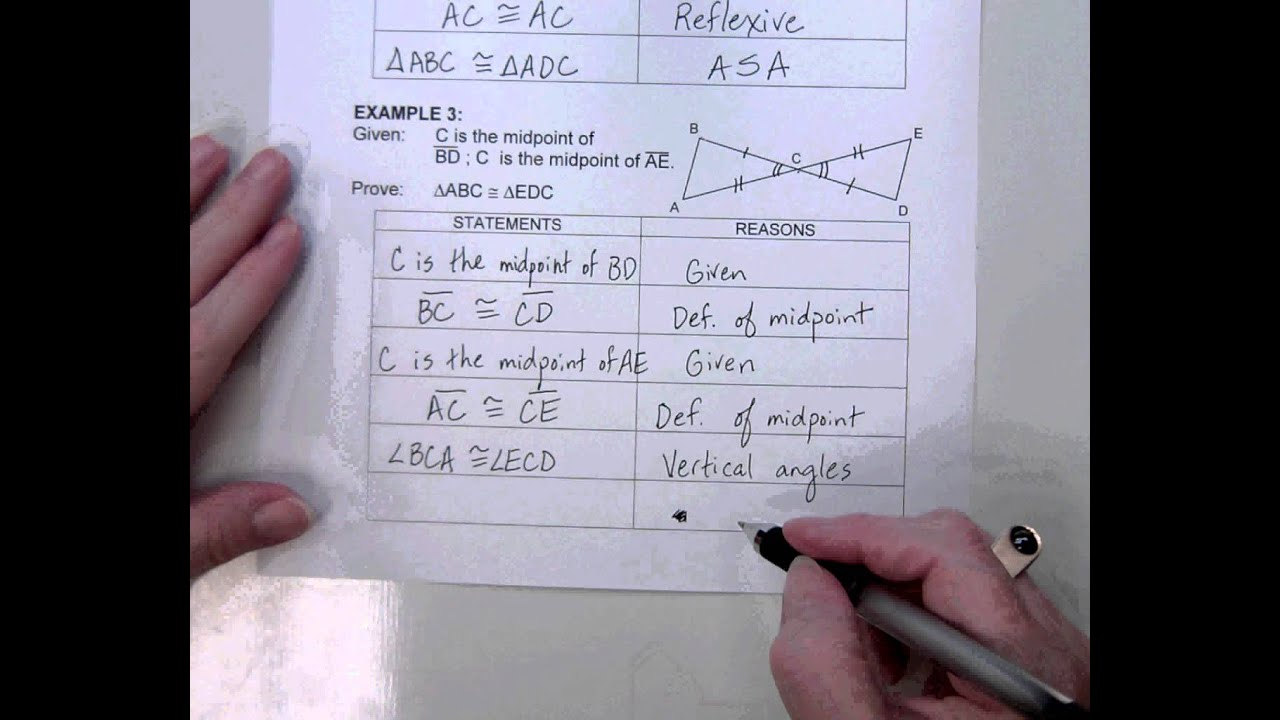 G2 Topic 9-3 Proof Proving Triangles Congurent using SSS, SAS, or ...