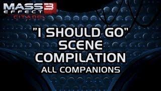 """Mass Effect 3 Citadel DLC: """"I should go"""" scene compilation (FemShep version)"""
