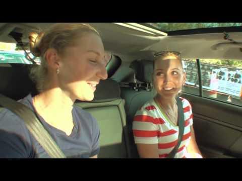 Ekaterina Makarova and Elena Vesnina: Kia Open Drive - 2014 Australian Open