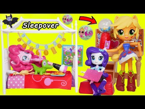 L.O.L. Surprise! Dolls My Little Pony Sleepover Barbie Blind Bag Balls Baby Rescue Sisters Unboxed!