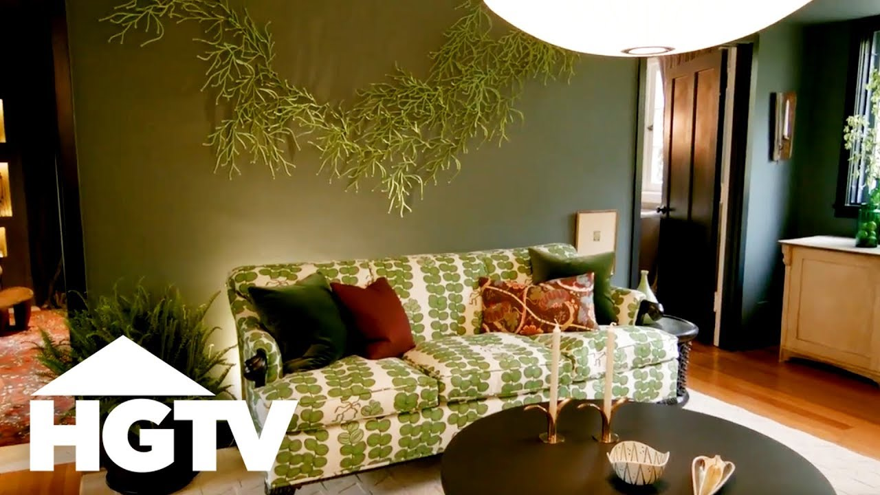 Nature Inspired Living Room Design HGTV YouTube