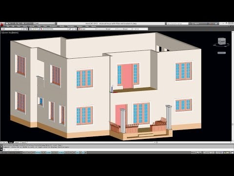 CREATING THE FIRST FLOOR FROM THE GROUND FLOOR FOR AUTOCAD DOUBLE STORIED 3D HOUSE