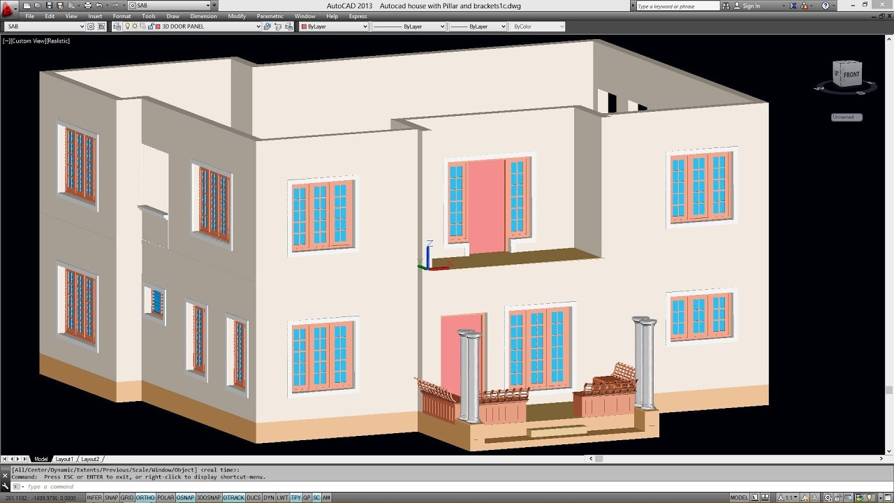 Creating the first floor from the ground floor for autocad double storied 3d house youtube