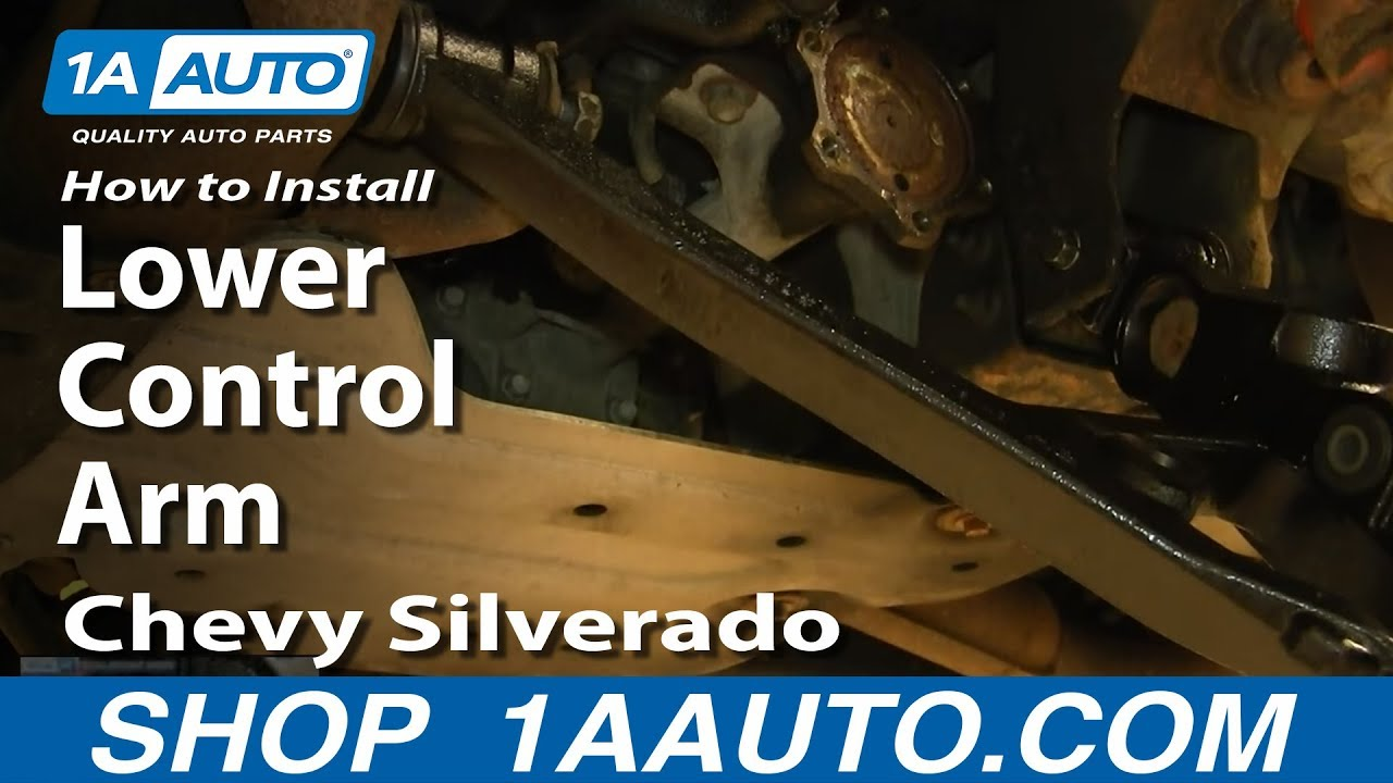 small resolution of how to install replace lower control arm 2000 06 chevy silverado suburban gmc sierra yukon youtube