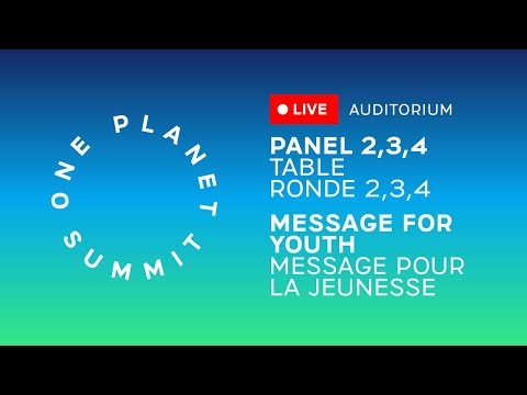Panels and message to the youth - #OnePlanet
