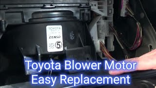 How to replace a blower motor in a 2003 2004 2005 2006 2007 2008 Toyota Corolla