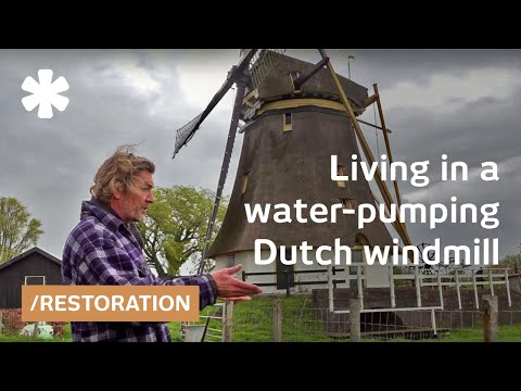 Art of windmill maintenance: quixotic Dutch restores old pump