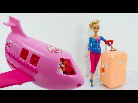 Video con i giocattoli. Giochi per bambini con le bambole.  Viaggio al mare