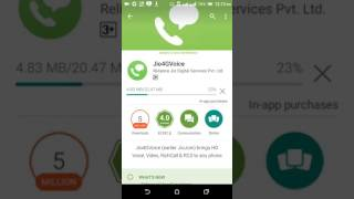 why jio4gvoice not work in htc phon