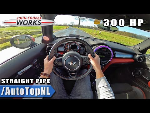 300HP MINI JCW F56 *STRAIGHT PIPED* AC Schnitzer EXHAUST POV Test Drive By AutoTopNL