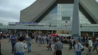 10 минут до начала митинга Омск 1 июля 2018 Против повышения пенсионного возраста