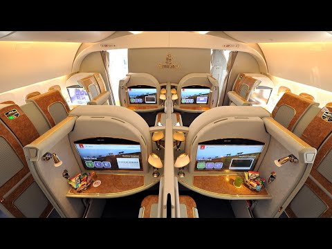 Emirates A380 First Class Dubai to Amsterdam (+ lounge): a t