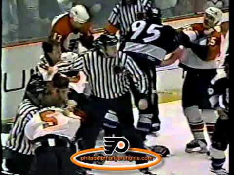 Dec 14, 1995 Jason Weimer vs Kevin Haller Tampa Bay Lightning vs Philadelphia Flyers