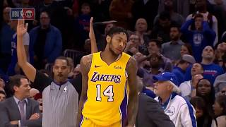 Brandon Ingram's game winning 3 - crazy final seconds! - Lakers@76ers