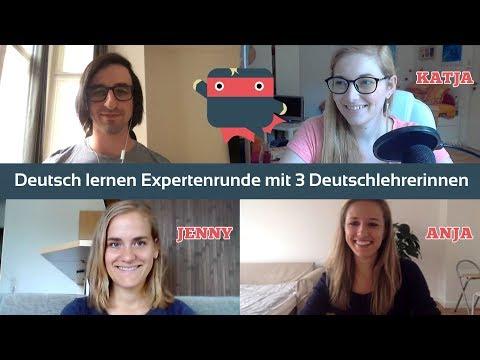 ᐅ Deutsch lernen: Expertenrunde mit Anja, Jenny und Katja (mit deutschen Untertiteln)