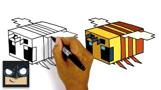 How To Draw Minecraft Bee | Step By Step Tutorial