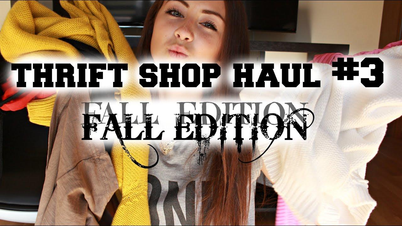 Thrift shop haul 3 fall edition try on anita sibul youtube
