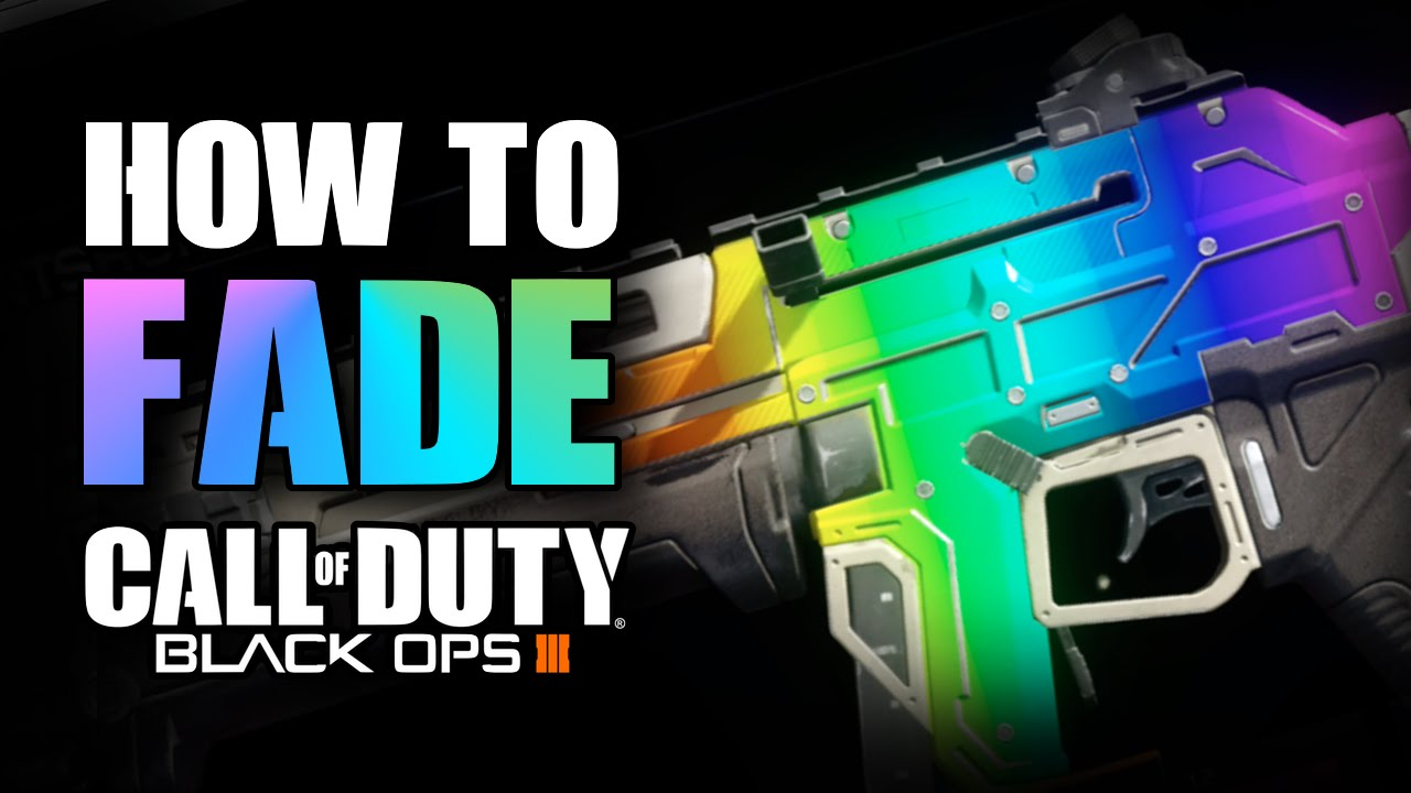 how to rainbow fade in paint shop tutorial call of duty black ops 3 youtube. Black Bedroom Furniture Sets. Home Design Ideas