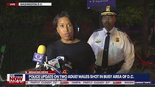 Police: 2 injured in D.C. shooting on busy street