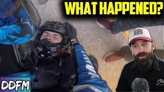 Quad Causes Motorcycle Rider To Go FLYING