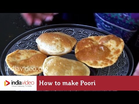 Easy steps to make Poori / How to make poori