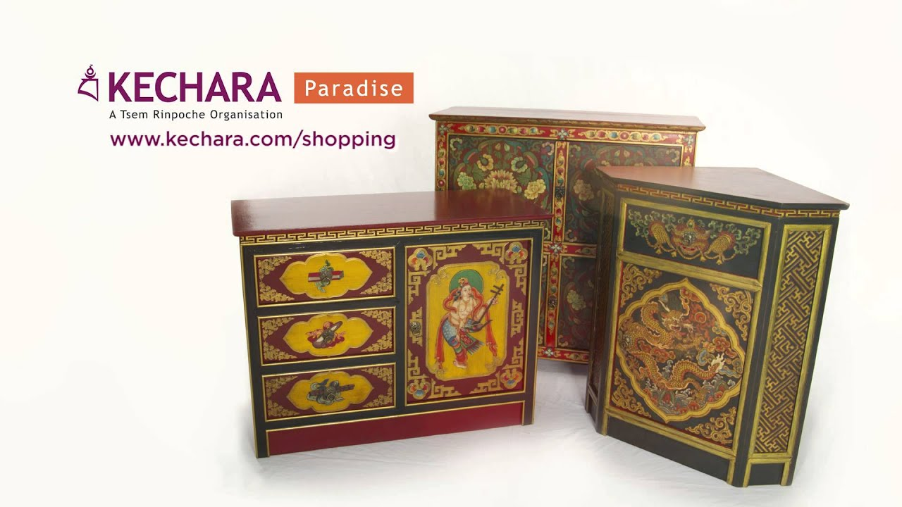 Tibetan Furniture At Kechara Paradise