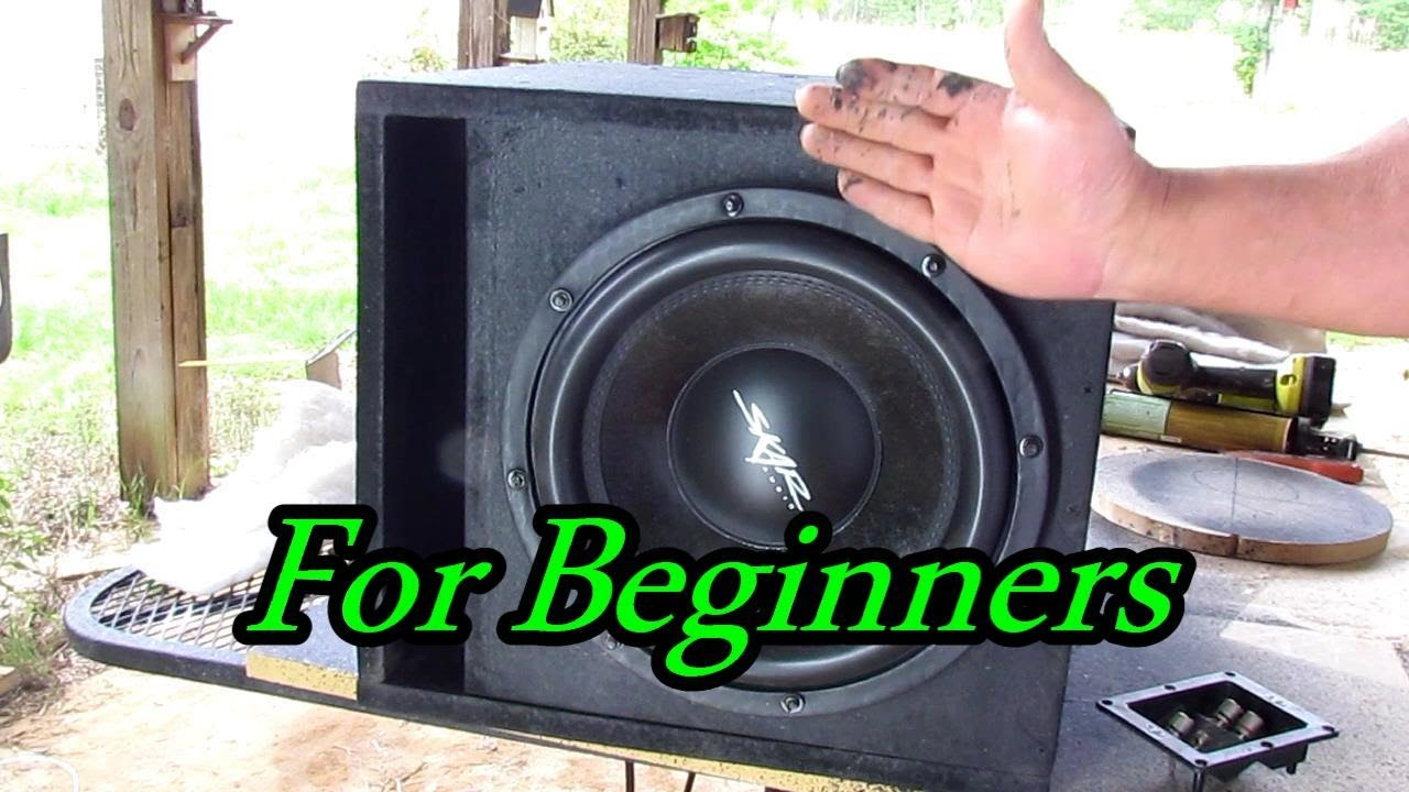 How To Make A Subwoofer Box For Beginners Youtube