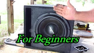 How To Make A Subwoofer Box For Beginners
