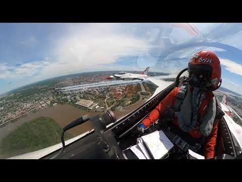 USAF Thunderbirds & Blue Angel Flyover For Washington D.C. United States