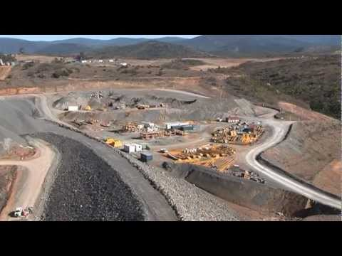 Enlarged Cotter Dam - Construction Activity July 2011