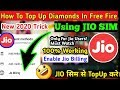 How To Top Up Diamonds In Free Fire Using Jio Sim | Jio Sim Se Free Fire Me Diamond Top Kaise Kare