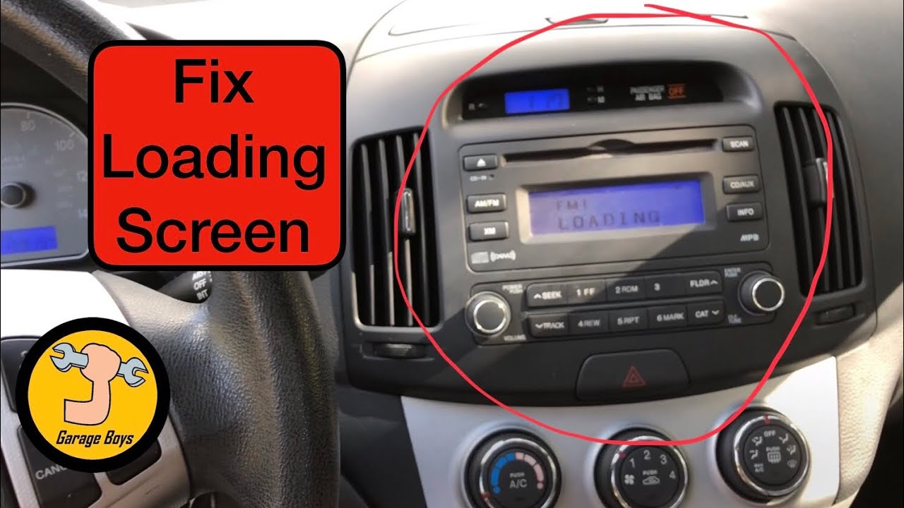 how to fix radio on 2008 hyundai elantra youtube. Black Bedroom Furniture Sets. Home Design Ideas