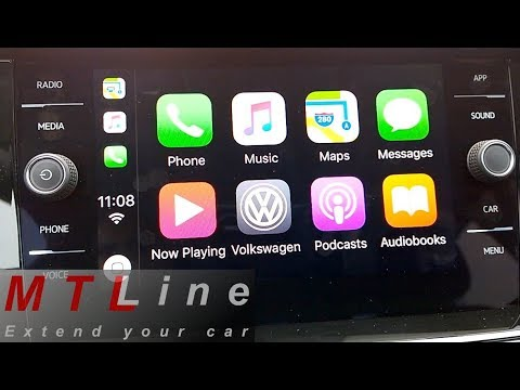 new vw polo my2018 apple carplay short overview. Black Bedroom Furniture Sets. Home Design Ideas