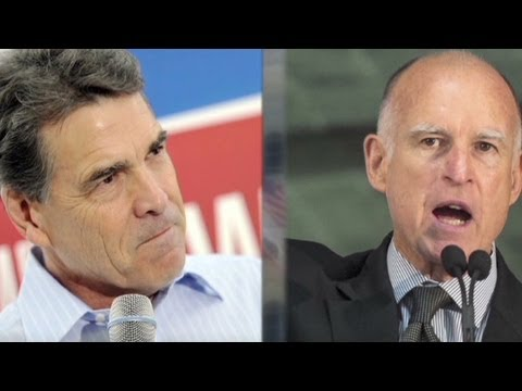 Texas Gov. Rick Perry tries to poach California businesses